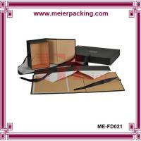 Quality Flat Pack Foldable Apparel Packaging Gift Box, Folding Paper Shoe Box with Ribbon ME-FD021 for sale