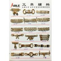 Buy cheap Custom Brushed Gold Zinc Alloy Buckle Chains For Ladies Shoe Spare Parts from wholesalers