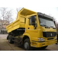 Wholesale HOWO Dump truck    Rated load  25000kg ; Front/rear over hang(mm) 1065/1560,Yellow COLOR from china suppliers