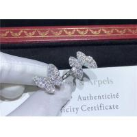 Wholesale 18K White Gold Van Cleef And Arpels Butterfly Ring With 70 Diamonds from china suppliers