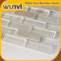 Quality Kitchen Wall Glass and Stone Tile 8mm Fashional strip Style for sale