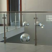 Wholesale 304 Stainless Steel Post Tempered Glass Balcony Railing Design from china suppliers
