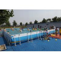 Wholesale Summer Metal Frame Swimming Pool Large Set Custom Steel Frame Pool For Holiday from china suppliers