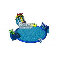 Wholesale Blue seaworld amusement park equipment with big swiming pool for commercial event from china suppliers