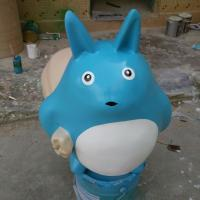 Buy cheap life size comic  theme cartoon statue totoro character statue for garden/ plaza/ shopping mall deco from wholesalers