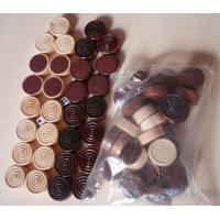 Wholesale wood Checker Round wood chess game pieces wood backgammon from china suppliers