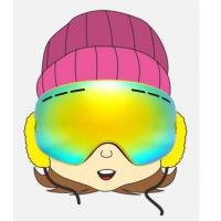 Quality Custom Lovely Yellow Kids Snowboarding Goggles and Eyewear with PC Lens for sale