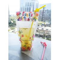 China Resealable Bag Plastic Zip Lock Stand Up Pouches for Drinks with Handle Holes on Top for sale