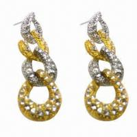 Wholesale Fashionable Stud Earrings, Nickel-and Lead-free from china suppliers