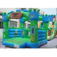 Wholesale Square Green Outdoor Inflatable Bouncer , Inflatable Bounce House With Slide from china suppliers