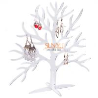Wholesale Acrylic Display Stand Earring Jewelry Holder Countertop Holds10 Pairs Tree Shaped from china suppliers