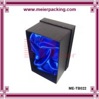 Wholesale Single wine bottle paper box, black paper box with shiny blue silk ME-TB022 from china suppliers