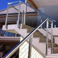 Wholesale Outdoor Stainless Steel Wire Balustrade / Railing for Balcony from china suppliers