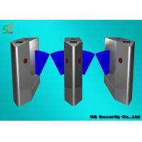 Quality Security Outdoor Flap Barrier Gate, Turnstile Entry Systems Subway for sale