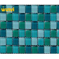 Wholesale Alkali - Resistant Swimming Pool Glass Modern Mosaic Tile 23 × 23mm Chip Size from china suppliers