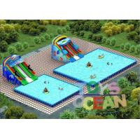 China Large Amazing Inflatable Water Park  Colored Commercial For Swimming Pool on sale