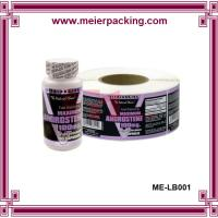 Wholesale High quality self-adhesive label sticker printing, plastic bottle sticker ME-LB001 from china suppliers