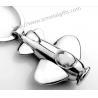 metal aeroplane FOB key ring, zinc alloy, wholesale custom made airplane key fob key chain for sale