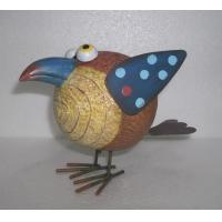 China Wooden  bird Garden Animal Statues figures as home sculptures on sale
