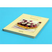 Wholesale Gloss Lamination Customized Cookbook Printing , Hardcover A4 Book Printing from china suppliers