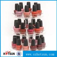 Wholesale 3 tiered round rotating acrylic nail polish display stand in cheap price from china suppliers