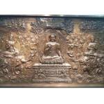China Public Decorative Metal Bronze Relief Sculpture 350cm x 150cm for sale