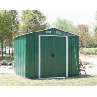 Wholesale Outdoor Green Arrow Apex Metal Yard Sheds For Tool / Car Storage With Double Sliding Door from china suppliers