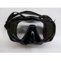 Wholesale Adult Divers Mask Free Diving Goggles with Black Silicone Strap Soft Skirt from china suppliers