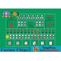 Wholesale 100% Polyester Fabric Casino Table Layout ,  High - Density Waterproof Entertainment Tablecloth from china suppliers