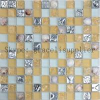 Wholesale Hot selling Crystal Glass Mixed Material Shell mosaic glass title ( yellow color China ) from china suppliers