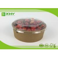 Wholesale Disposable Kraft Brown Paper Salad Bowls Food Container with Clear Lids from china suppliers