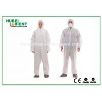 Buy cheap Type 5 / 6 Disposable Coveralls with Hood Splash Proof SMS Chemical Coveralls from wholesalers