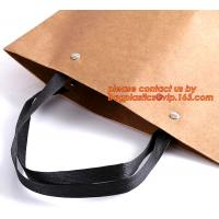 Wholesale white craft paper rope handle paper shopping bags wholesale, high quality retail foldable hard cardboard paper shopping from china suppliers
