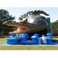 Wholesale Alligator Waterproof Comercial Outdoor Wet Kids Inflatable Slide PVC Tarpaulin from china suppliers