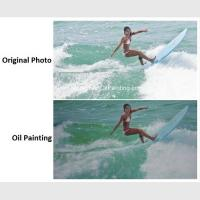 Wholesale Realistic Custom Oil Painting Portraits Surf Lady Sports Oil Paintings From Picture from china suppliers