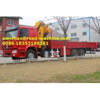 Buy cheap Sinotruk HOWO 6X4 12 Tons HIAB Telescopic Boom Truck Mounted Crane for Lifting from wholesalers