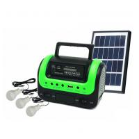 Buy cheap 5W Portable Solar Home Lighting System Kit with Radio MP3 Bluetooth Speaker from wholesalers