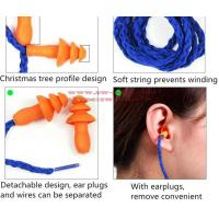 Wholesale Soft Silicone Corded Ear Plugs ears Protector Reusable Hearing Protection Noise Reduction Earplugs Earmuff from china suppliers