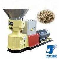 Buy cheap High quality sawdust rice husk straw flat die pellet machine for chicken cattle from wholesalers