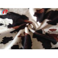 China Animal Printed Soft Hand Feel Polyester Velvet Fabric For Home Textile on sale