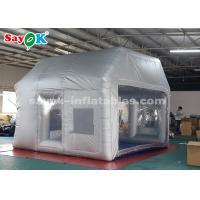 China Silver Inflatable Paint Booth With Filter System / Inflatable Bubble Tent on sale