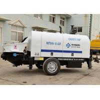 Wholesale Compact Trailer Concrete Pump , 40m3/H Diesel Engine Type Reed Concrete Pump from china suppliers
