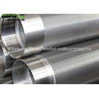 Buy cheap water slot screen stainless steel Johnson V wedge wire well tube for drilling from wholesalers
