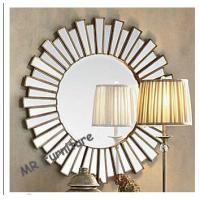 Wholesale 36 Inch Wooden Strips 3d Mirror Wall Art , Modern Wood Framed Wall Mirrors from china suppliers