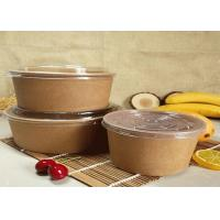 China Customized Kraft Salad Fruit Food Paper Dessert Bowls With PLA Coating for sale