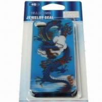 Wholesale 3-D Cover for iPhone 4, Made of Plastic, Undersea World Design, Safe and Non-toxic from china suppliers
