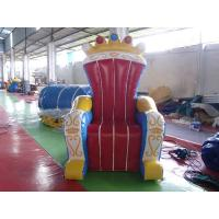 Quality Wonderful Inflatable Throne Decoration , Air Unsealed PVC Inflatable Throne for King for sale
