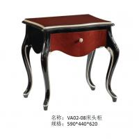 Wholesale European style Classic design furniture of Leather headboard Bed used Beech wood in Glossy painting for Villa house from china suppliers