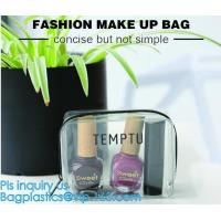 Wholesale Travel Portable PVC Transparent Waterproof Cosmetic Bag Women Makeup Toiletry Bags, PVC Cosmetic Pouch, PVC Makeup Bag, from china suppliers