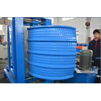 Wholesale 0.4-0.8mm Thick Colour coated Steel Roof Panel Crimping Curving  Roll Forming Machine 2.2 Kw Motor power from china suppliers